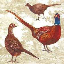 Pheasant Scene Shooting paper table napkins 20 in pack 3 ply 33 cm square