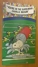 1993 PEANUTS ~ YOU'RE IN THE SUPERBOWL, CHARLIE BROWN ~ OFFICIAL NFL, SHELL OIL