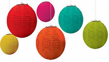 6ct ~ Mexican Fiesta Paper Lanterns Hanging Decorations Spanish Party Supplies