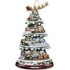 THOMAS KINKADE MOVING & LIGHTED CHRISTMAS TREE HOLIDAY DECOR NEW