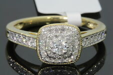 10K YELLOW GOLD .55 CARAT REAL DIAMOND WOMEN BRIDAL WEDDING ENGAGEMENT RING