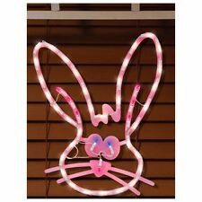 Impact Innovations Easter Lighted Window Decoration, Bunny Face #39572