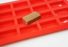 20 cell RED Sample Size Mini Bar Domino Chocolate Mould Candy Cake Mold Soap Wax