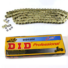 520 Gold O-ring Chain 120 Links for motorcycle Dirt Pit Bike