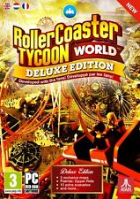 ROLLERCOASTER TYCOON WORLD DELUXE EDITION (PC-DVD) BRAND NEW SEALED ROLLER COAST