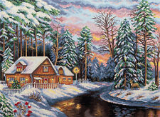 PANNA COUNTED CROSS STITCH KIT QUIET CHRISTMAS EVE  GOLD COLLECTION  NEW
