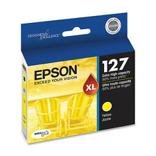 Genuine Epson T127 127 Yellow ink Workforce 840 635 633 630 WF 7010 7510 7520
