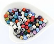 Multi color 300 Pcs Crystal Beads Pave Disco Balls Fit Shamballa Bracelet 10MM