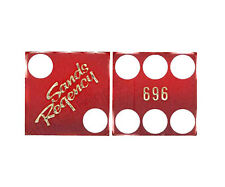 CASINO DICE - SANDS REGENCY HOTEL PAIR USED MATCHED DICE RENO NV FREE SHIPPING*
