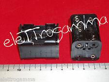 contenitore x 4 microstilo tipo N porta pile batterie portapile portabatterie