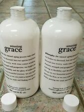 """Lot of 2 Philosophy """"Amazing Grace"""" Firming Body Emulsion Lotions 16 oz. EACH!"""