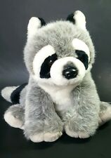 "Wild Republic Gray White Black Raccoon Plush 12"" Stuffed Animal Toy Boys Girls"