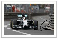 LEWIS HAMILTON MERCEDES F1 SIGNED PHOTO PRINT FORMULA ONE AUTOGRAPH