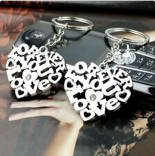 2pcs Set Creativity Love Heart Keyring Couple Keychain Keyfob For Lover Gift