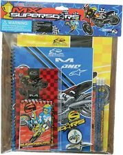 Youth MX SUPERSTARS 11pc School Supplies Kit Folders Notebook Pencils and more!