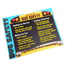 Bus Safety POSTER Trend Learning Classroom Chart Teacher Educational