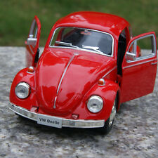 "Classic VW Beetle 1967 Two Doors can be opened Red 5"" Alloy Diecast Car Model"