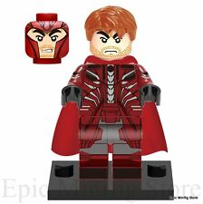 Custom Magneto Minifigure X-Men Apocalypse fits with Lego xh268 UK Sellar