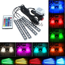 RGB Color Glow LED Car Interior Under Dash Footwell Lighting Kit Accent Light
