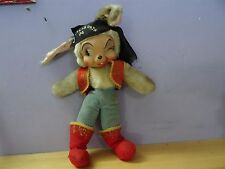 "vtg RUSHTON RUBBER FACE Stuffed Plush pirate BUNNY RABBIT 14"" Doll la filibusta"