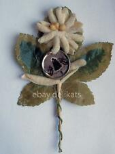 MARIA LUSCHARI LUSSARI vecchio santino fiore in panno