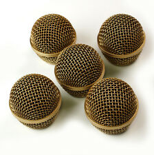 5x Mesh Microphone Grille For Shure SM58 565SD LC Microphone ,Copper Plated