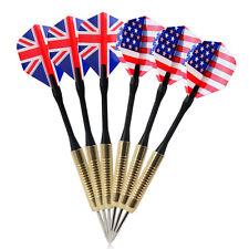 Hot Selling 6pcs Bullseye Target Game National Flag Flights Darts Magnetic Safe