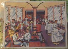 Objet de Métier Affiche Scolaire  26x21cm Le Salon de Coiffure en 1950