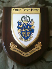 Cheshire Constabulary Police Force Personalised  Wall Plaque