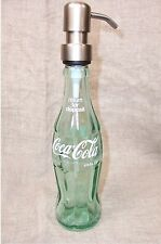 Coca Cola Bottle Pop Coke Glass Soap Pump Dispenser Bath Bronze Silver Mouthwash