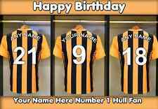 A5 Personalised Hull Football Dressing Room Greeting Birthday Card PID051