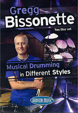Gregg Bissonette Drumming Different Styles Learn to Play Drums Music DVD
