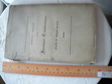 "Antique Booklet ""Annual Report Insurance Commissioner State of Rhode Island 1869"