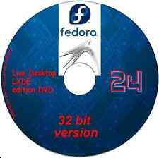 Fedora 24 Desktop Lxde 32 bit Linux on DVD + software