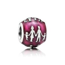 New Authentic Pandora Charm 791399en62 Family Bonds Red Enamel Box Included