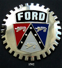 VINTAGE CAR GRILLE EMBLEM BADGES - FORD