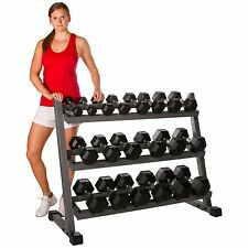 Xmark 4 ft. Three Tier Dumbbell Rack Holds 10 Pair XM-4439 Fitness Accessories