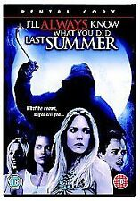 I'LL ALWAYS KNOW WHAT YOU DID LAST SUMMER | 3 2006 Slasher Horror Sequel UK DVD