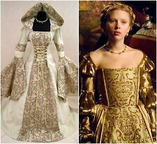MEDIEVAL WEDDING DRESS 16-18-20 L-XL-2XL WITCH GOTHIC LARP WICCA COSTUME TUDOR