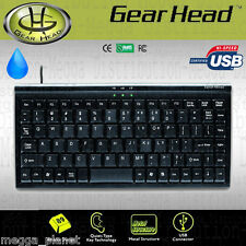 Gearhead Quiet 89 Key Spill Resistant Mini USB Keyboard w/ *METAL BASE* PC + MAC