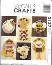 UNCUT Vintage McCalls Sewing Pattern Craft Straw Hat Wreaths Cow Hen Bear 3137