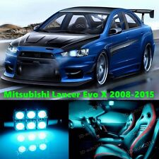10 LED ICE Blue Light Interior Package Kit for Mitsubishi Lancer Evo X 2008-2015