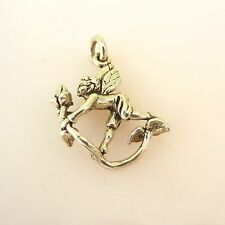 .925 Sterling Silver 3-D FAIRY on VINE CHARM NEW Pendant Fairytale 925 MY14