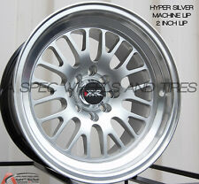 XXR 531 16X8 Rims 4x100/114.3 +0 Silver Wheels Fits Carrado Del So Civic Crx E30