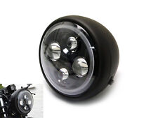 "7.7"" High Quality Projector LED Matt Black Project Motorbike Headlight with Halo"