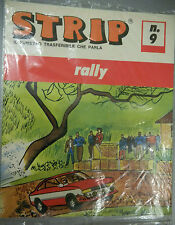 (PRL) RALLY CAR TRASFERELLO 1970 TOY STRIP FUMETTO TRASFUMETTO COMIC CORSE '70