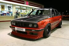 BMW 3 E30 FENDER FLARES 4 PCS + DUCKTAIL SPOILER FOR DRIFT / RACE