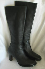 COLE HAAN Black Leather High Boots-Size 7B-Very Nice