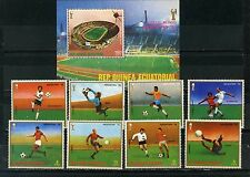 EQUATORIAL GUINEA 1978 SOCCER WORLD CUP ARGENTINA SET OF 8 STAMPS & S/S PER.MNH