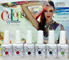 Harmony Gelish Soak-Off- COLORS OF PARADISE - All 6 Shades 01618-01623